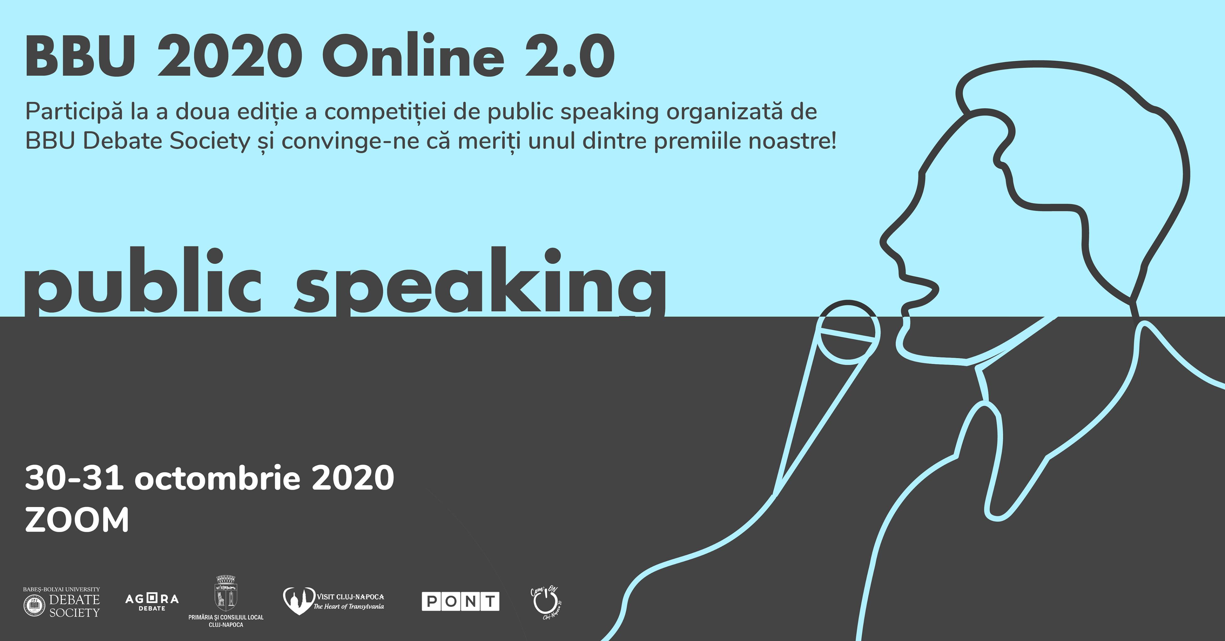 BBU 2020 Online 2.0: Competitie de Public Speaking pentru studenti