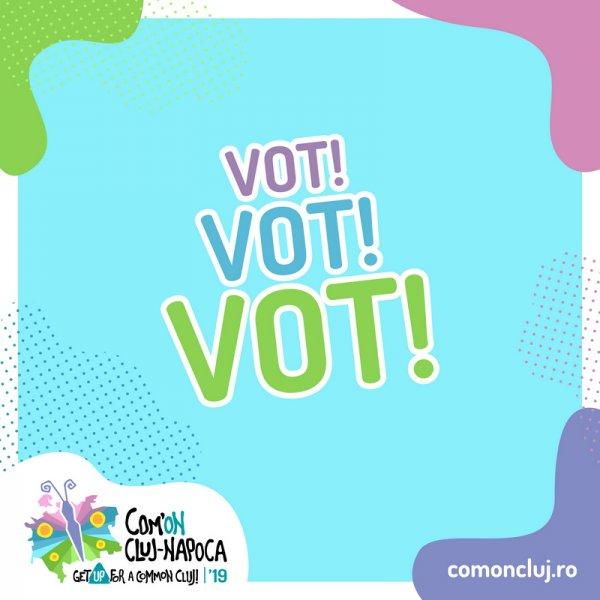 Peste 3.000 de voturi de la peste 1.000 de persoane pentru inițiativele tinerilor clujeni în prima săptămână de votare la Com'ON Cluj-Napoca